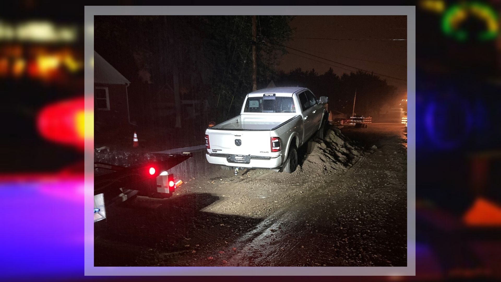 Driver in Wausau ignores 'road closed' signs, damages car & arrested for OWI