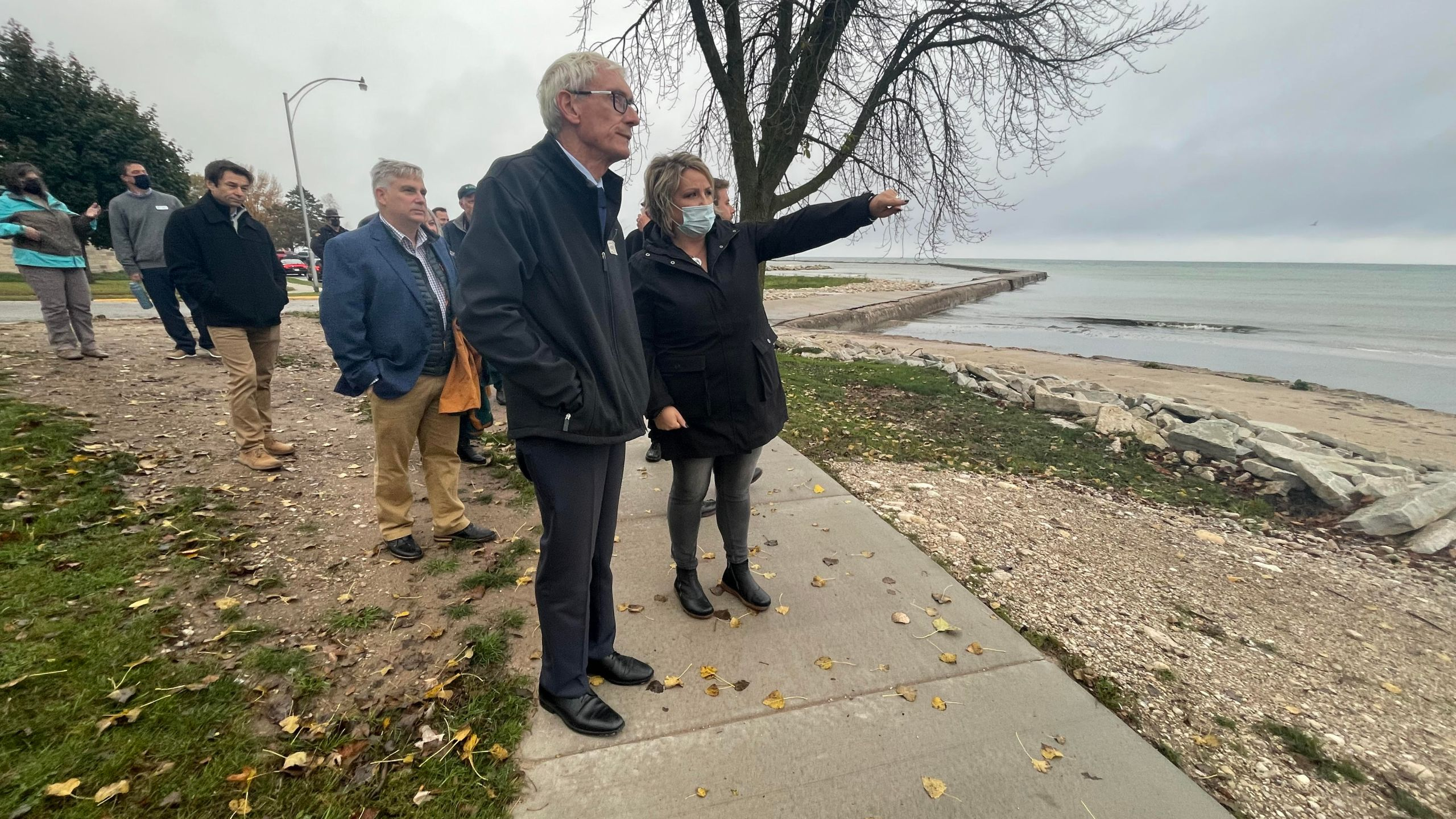 Gov. Evers visited Kewaunee County on Oct. 21, 2021, to talk water. (WFRV)